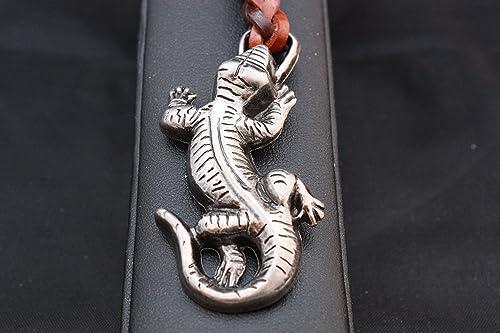 Llavero Cuero trenzado Salamandra (Hada de Fuego) en Zamak ...