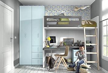 Ambiato Vita 44 Lit Mezzanine Pour Chambre D Enfant Avec