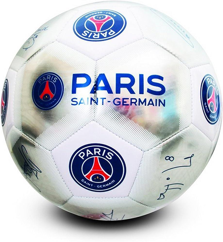 Paris Saint Germain FC Official - Balón de fútbol plateado con ...