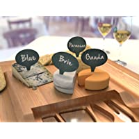 "Cheese Marker Gift Set of 4 Cheese Labels & 2 Chalk Markers - Wine and Cheese Tasting Gift Set - Washable Cheese Markers - Gifts for Wine Lovers €"" by HouseVines"