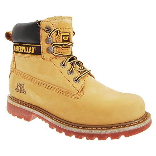 f46a49ed481661 CATERPILLAR Leather Holton OB Honey Brown Ankle Boots, Work & Uniform  Shoes, Safety Shoes & Boots 13: Amazon.co.uk: Shoes & Bags