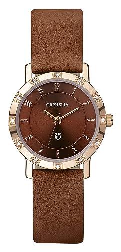 0939a597b1 Orphelia - OR22171833 - Montre Femme - Quartz Analogique - Bracelet cuir  Marron