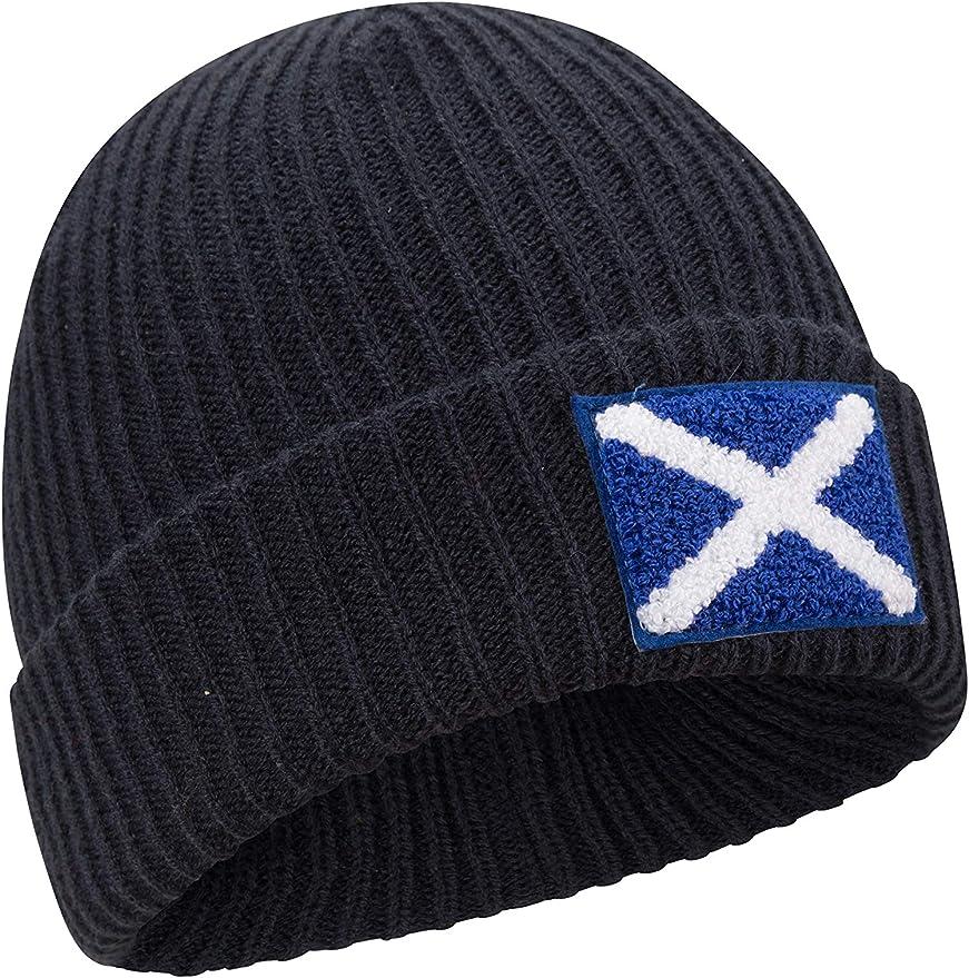 Mountain Warehouse Berretto con Bandiera della Scozia da Uomo Viaggi Caldo bifoderato Accogliente Bello Accessorio Invernale per Passeggiate allaperto Elegante