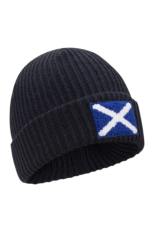 Doble Forro Inverno con Estilo Aire Libre c/álido y Moderno Accesorio de Invierno para Caminar Mountain Warehouse Gorro de Punto con Bandera Escocesa para Hombre