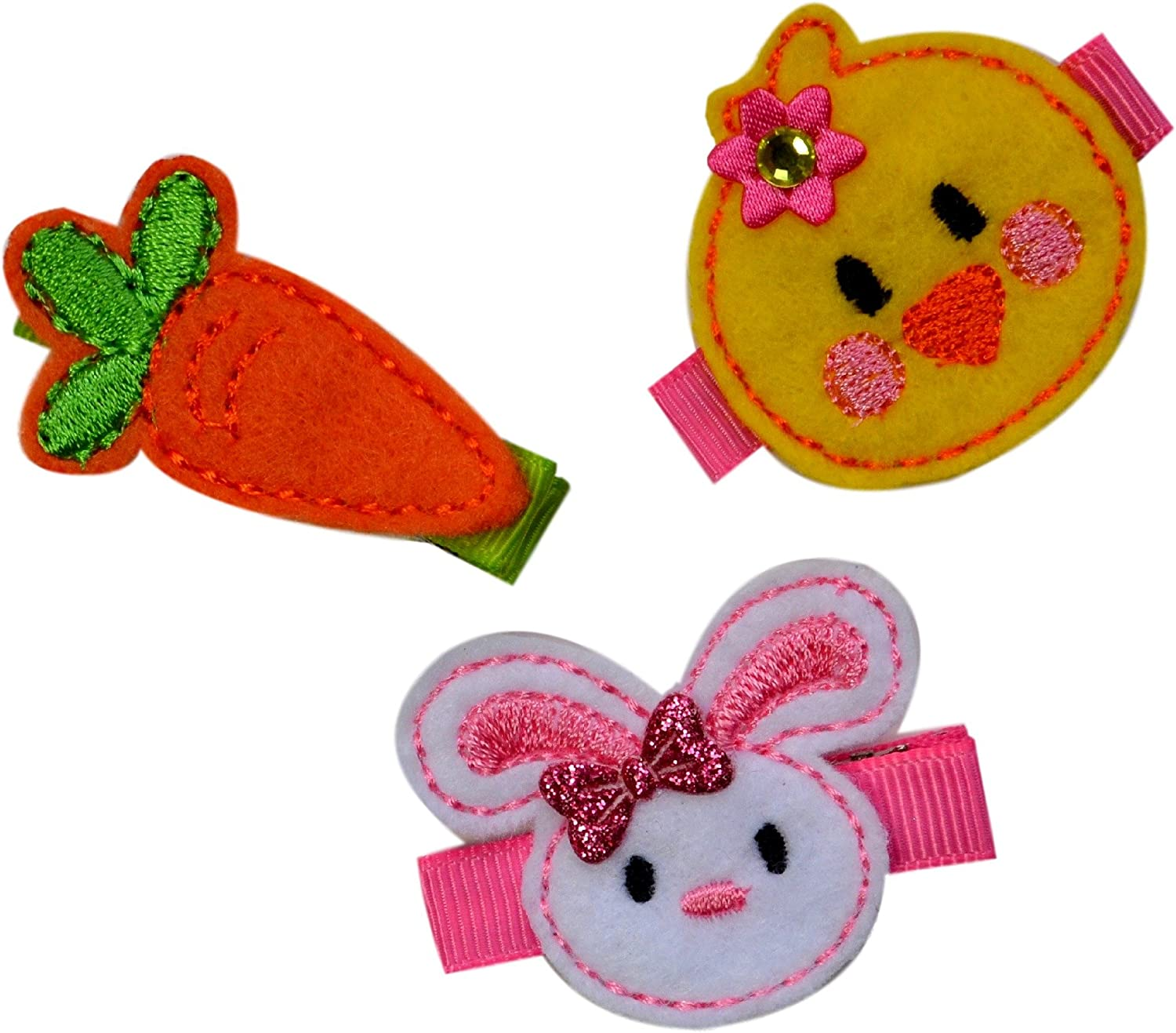 Easter Series LeatherGlitterPattern Snap Clips Girl Hair Clip Toddler Hair Clip Baby Hair Clip