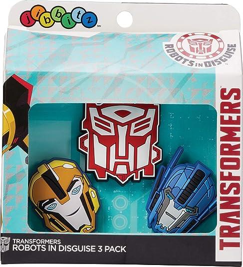 crocs Transformers SS17 3 Pack Schuhanhänger, Mehrfarbig ( ), Einheitsgröße