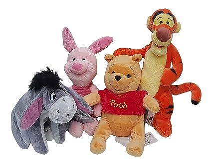 Amazon Com Disney Winnie The Pooh 4 Pack Mini Plush Winnie Tigger