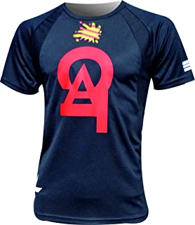 EKEKO SPORT Camiseta CATALUÑA Running, Senderismo, Manga Corta Color Negro.