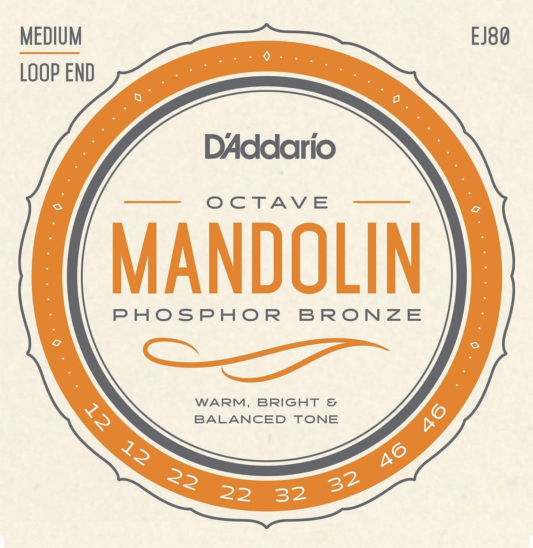 D'Addario EJ80 Phosphor Bronze Octave Mandolin Strings, Medium, 12-46 D'Addario