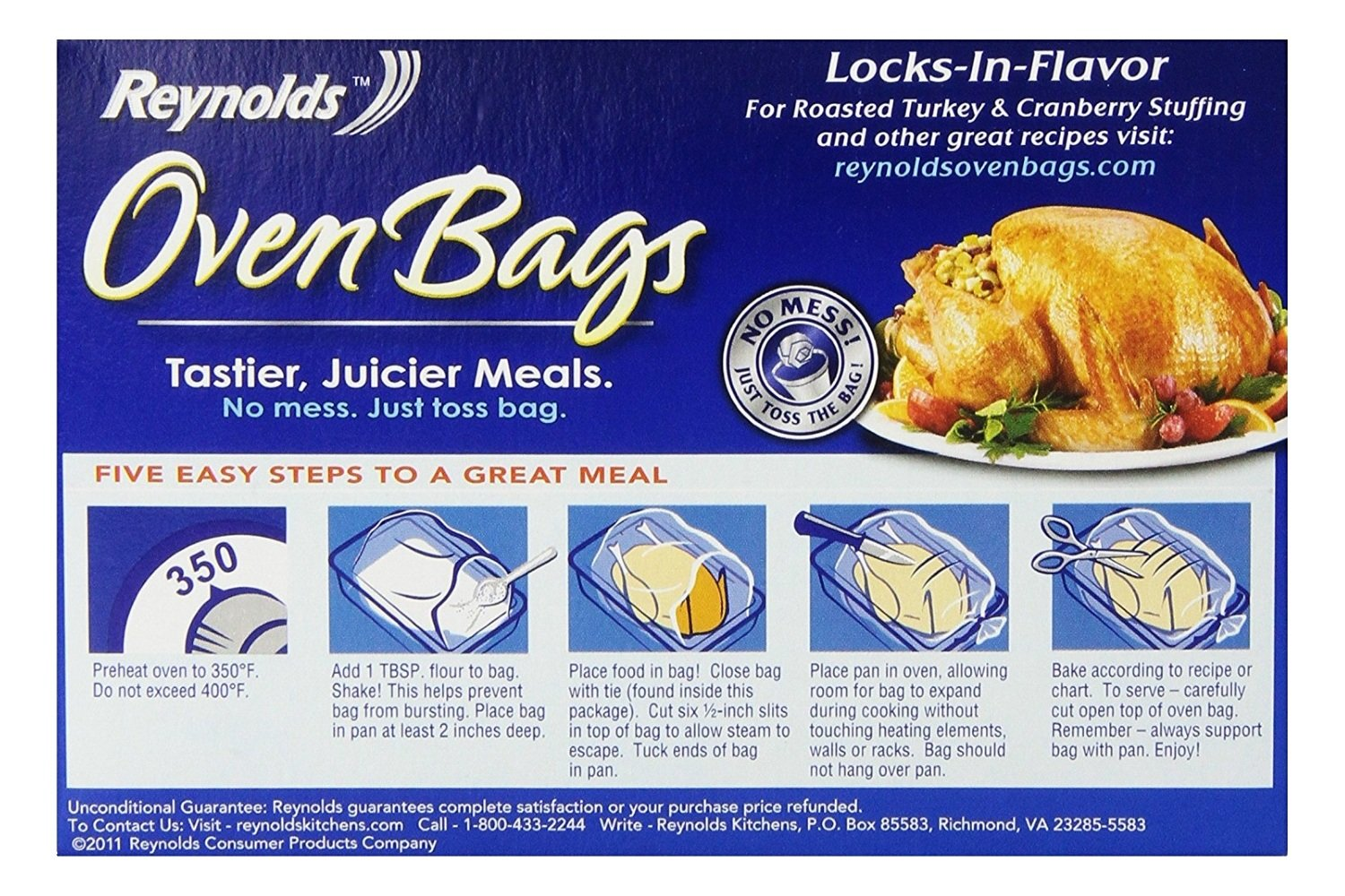 Amazon.com: Reynolds Turkey Size Oven Cooking Bags, 2 Count: Kitchen U0026  Dining
