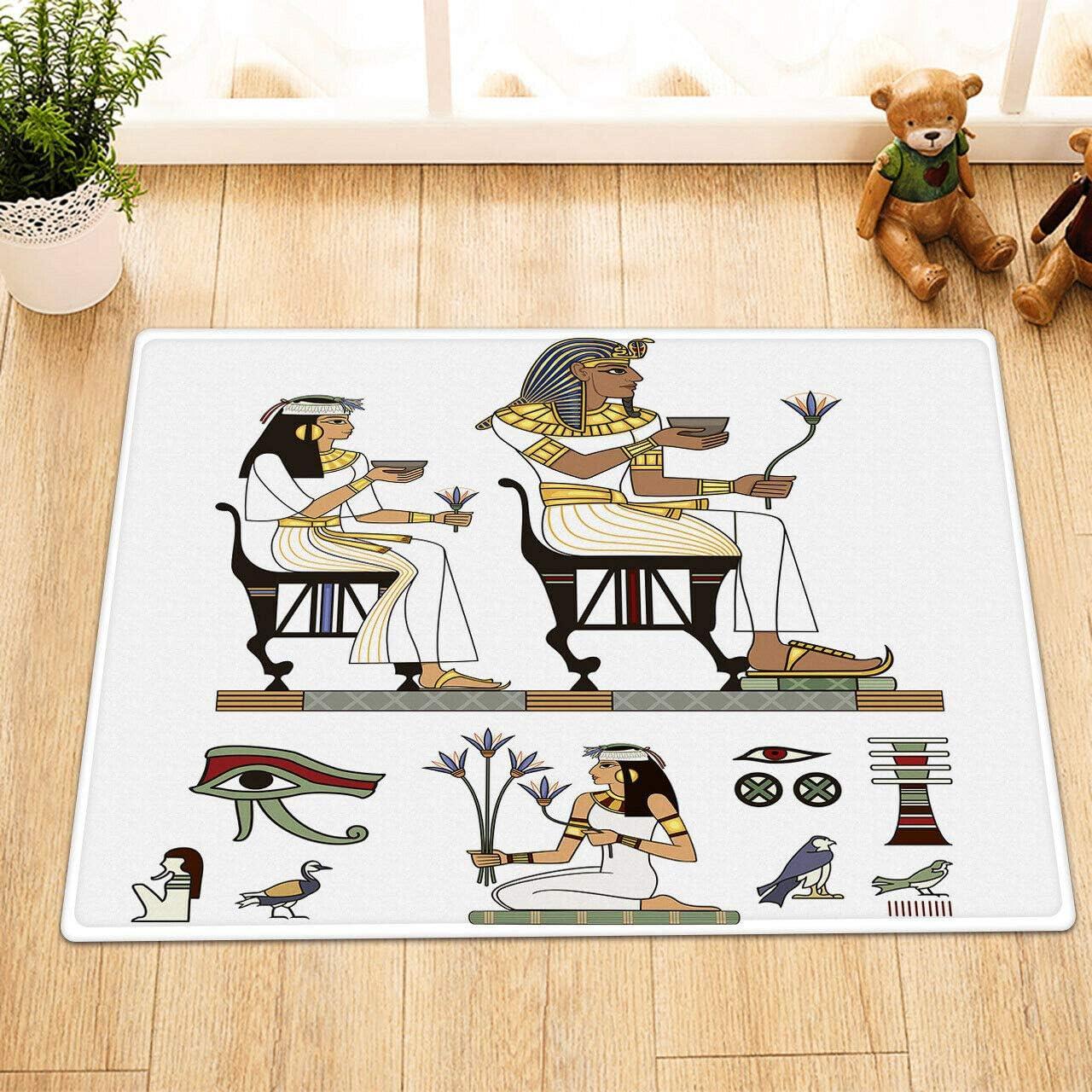 dsgrdhrty Nobleza egipcia Antigua Alfombra baño usable de Dibujos ...