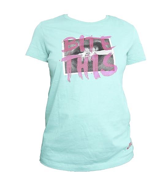 Amazon.com  Womens Nike Air Max Bite This Atomic Teal T-shirt (Large ... ab1dcc1e1