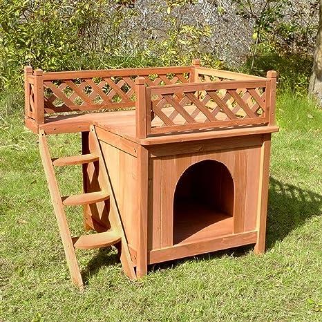 Amazon.com: Casa de madera para perros, gatos, para uso en ...