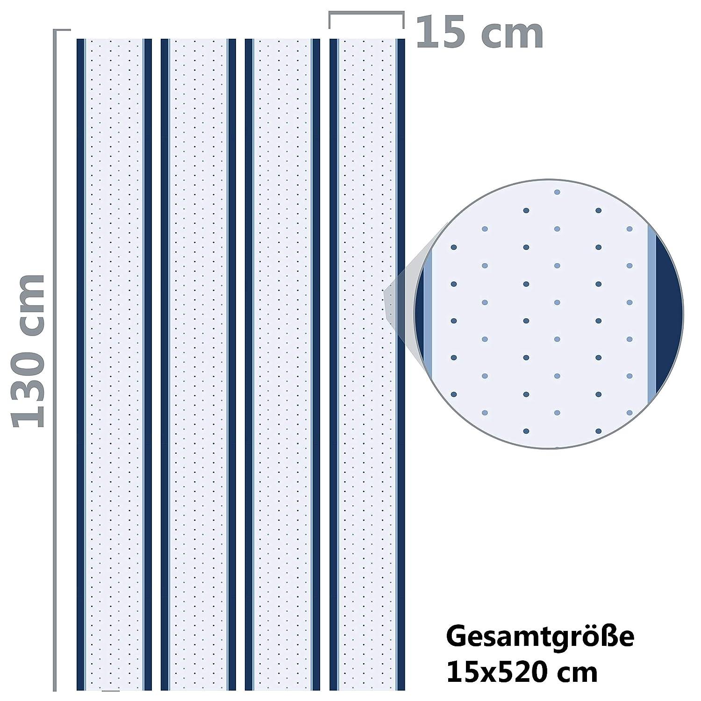 Kleisterbord/üre Blaue Kreise 4-teilig 520x15cm Tapetenbord/üre Wanddeko,Retro blau Borte Wandbord/üre