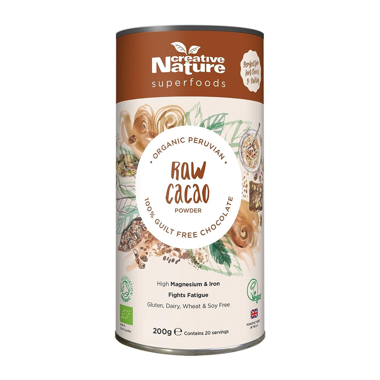 Creative Nature Cacao Powder (Peruvian) 200g: Amazon.es: Salud y cuidado personal