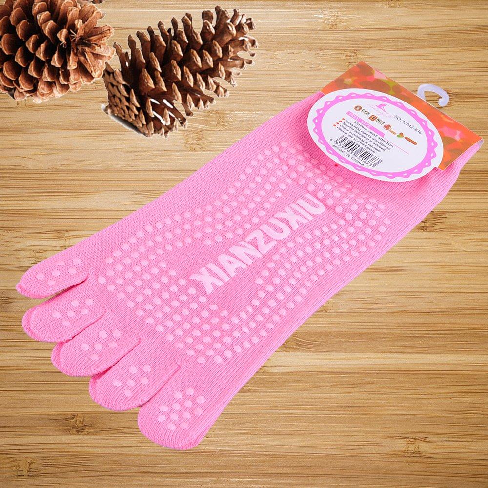 Womens Dance Yoga Sock 5 Toes Cotton Socks Gym Exercise Pilates Rubber grip Sock