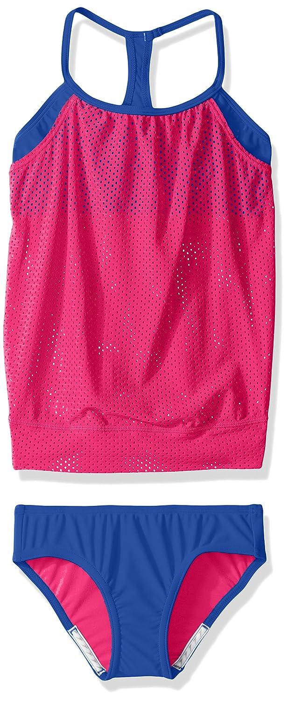Speedo Girls Blouson Tankini Two Piece Swim Set Speedo Children' s Apparel 7714703-P