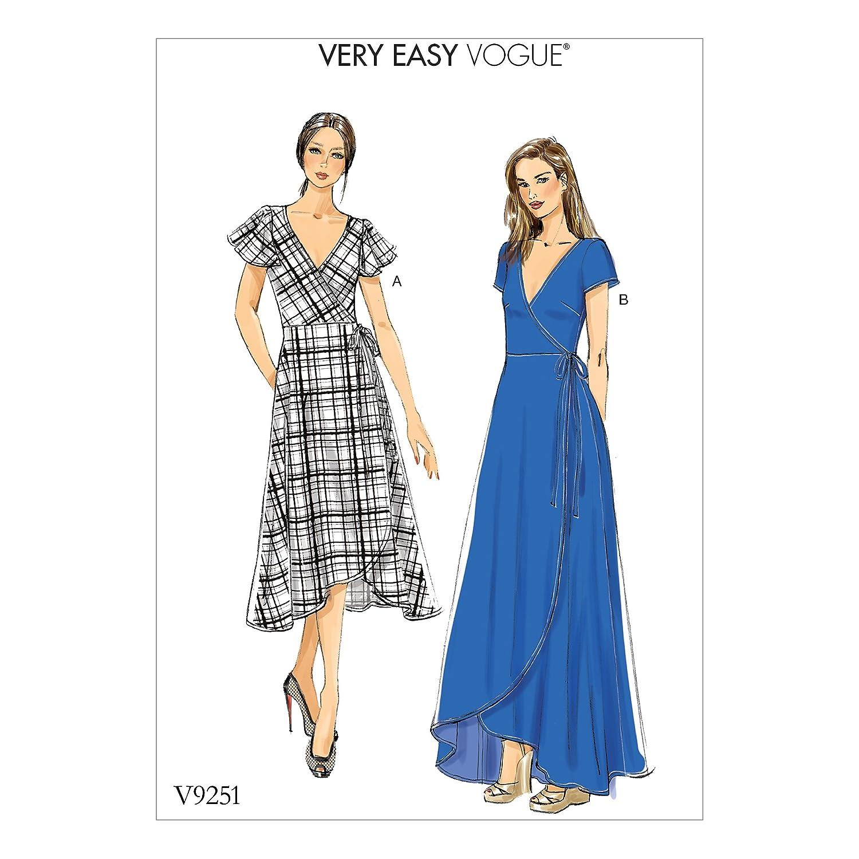 Vogue Patrones de Costura para Vestidos,, tamaños 8 - 16: Amazon.es ...