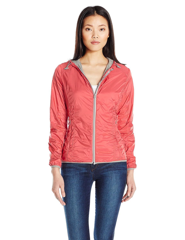 Members Only Women's Fleece Lined Packable Windbreaker Coat with Adjustable Hood