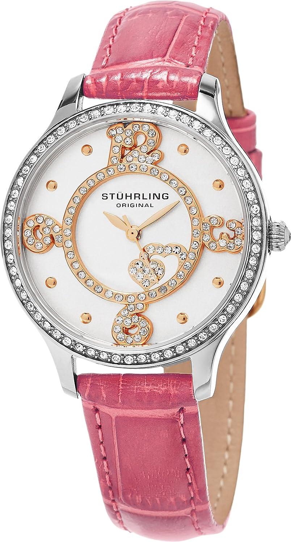 Stuhrling Original Women s 760.03 Symphony Heart Dial Leather Strap Watch