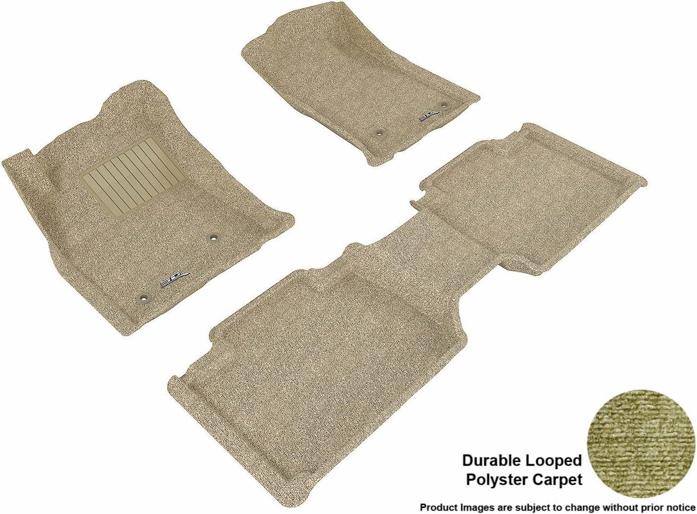 Black Classic Carpet 3D MAXpider Second Row Custom Fit Floor Mat for Select Toyota Tacoma Models