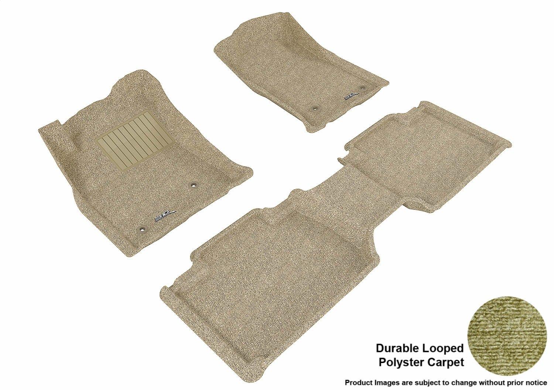 L1TY07522201 Classic Carpet 3D MAXpider Second Row Custom Fit Floor Mat for Select Toyota Tacoma Models Gray