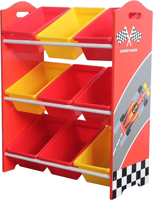 80 X 63 X 29CM Garden Market Place Speedy Racer Childrens Toy Rack-Patented Graphics