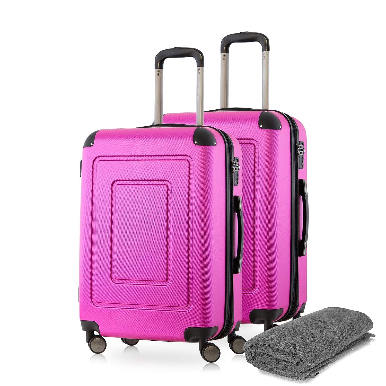 Happy Trolley Lugano Set de bagages 66 Centimeters 78 Argent/é Silber