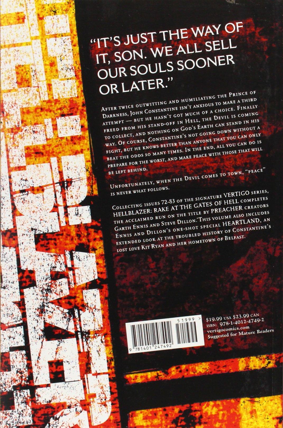 8: Rake at the Gates of Hell: Garth Ennis, Steve Dillon: 9781401247492: Amazon.com: Books
