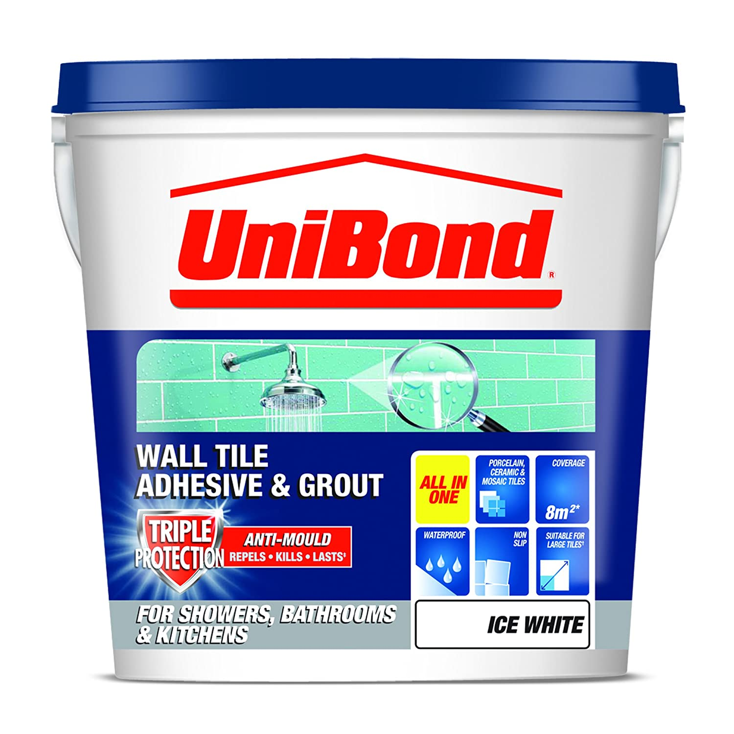 Unibond 1460724 tile on walls anti mould readymix adhesive grout unibond 1460724 tile on walls anti mould readymix adhesive grout trade amazon dailygadgetfo Gallery