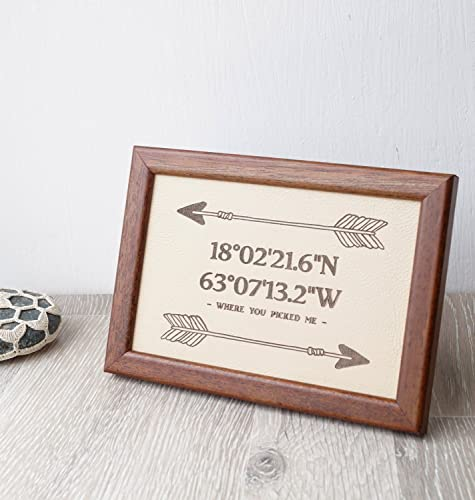 3rd Wedding Anniversary Gift Leather Sign Engraved Family Name