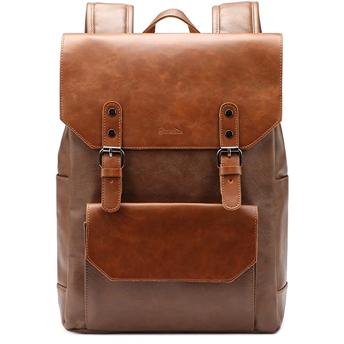 Men's Bags Capable Vintage Women Backpack For Teenage Girls School Bags Fashion Large Backpacks Retro Laptop Pu Leather Black Bag Brown Daypack Sufficient Supply Luggage & Bags