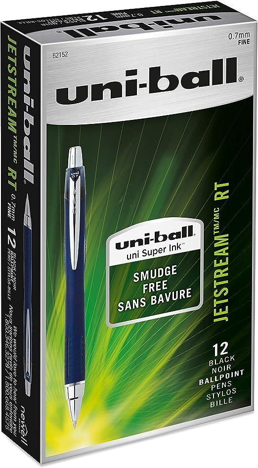 uni-ball Jetstream RT Roller Ball Retractable Pen 1.0 mm Assorted Ink Bold 5