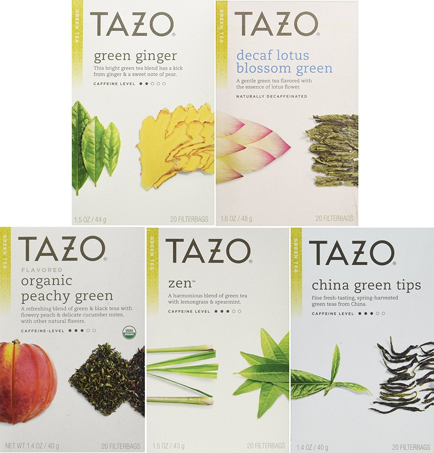 Amazon tazo assorted tea sampler 20ct calm chamomile passion tazo green tea energizing 5 flavor variety pack sampler pack of 5 100 bags izmirmasajfo