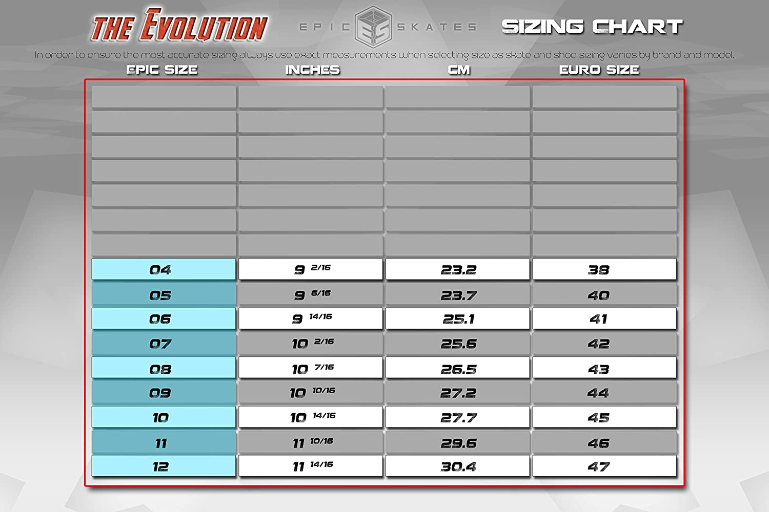 Epic Skates Evolution Quad Roller Jam Speed Skates