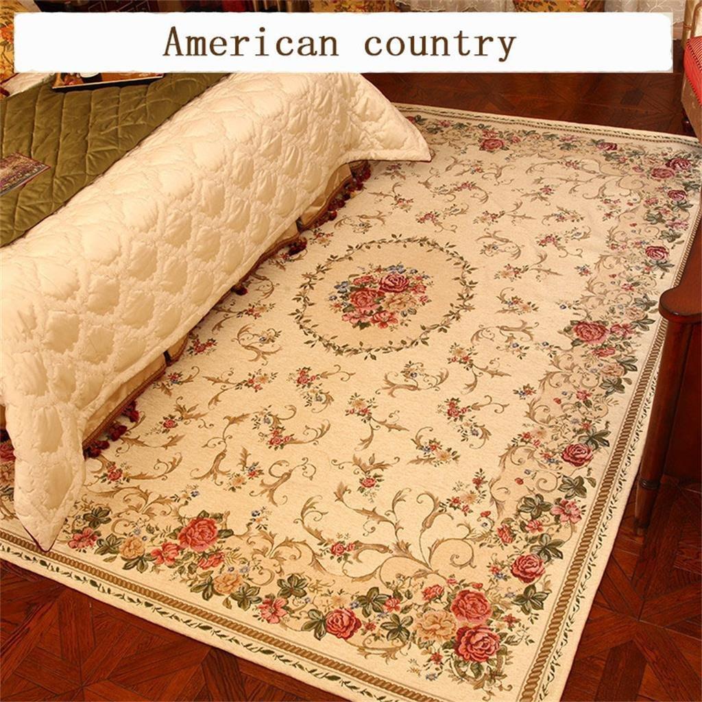 Flash-amerikanischen Teppich Pastoral Schlafzimmer Nacht Teppich Continental Pastoral Moderne Mash up Wohnzimmerteppich