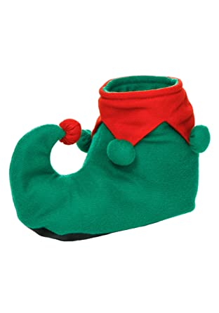 4c5f8f68c116 Amazon.com  Fun Costumes Adult Christmas Red And Green Elf Shoes ...