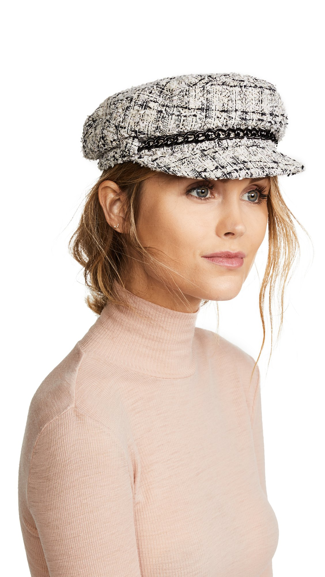 Eugenia Kim Women's Marina Newsboy Cap, Ivory/Multi, One Size