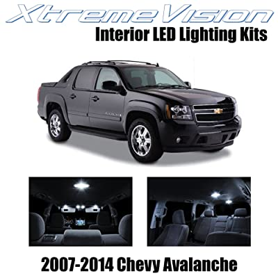Xtremevision Interior LED for Chevy Avalanche 2007-2014 (14 Pieces) Pure White Interior LED Kit + Installation Tool: Automotive
