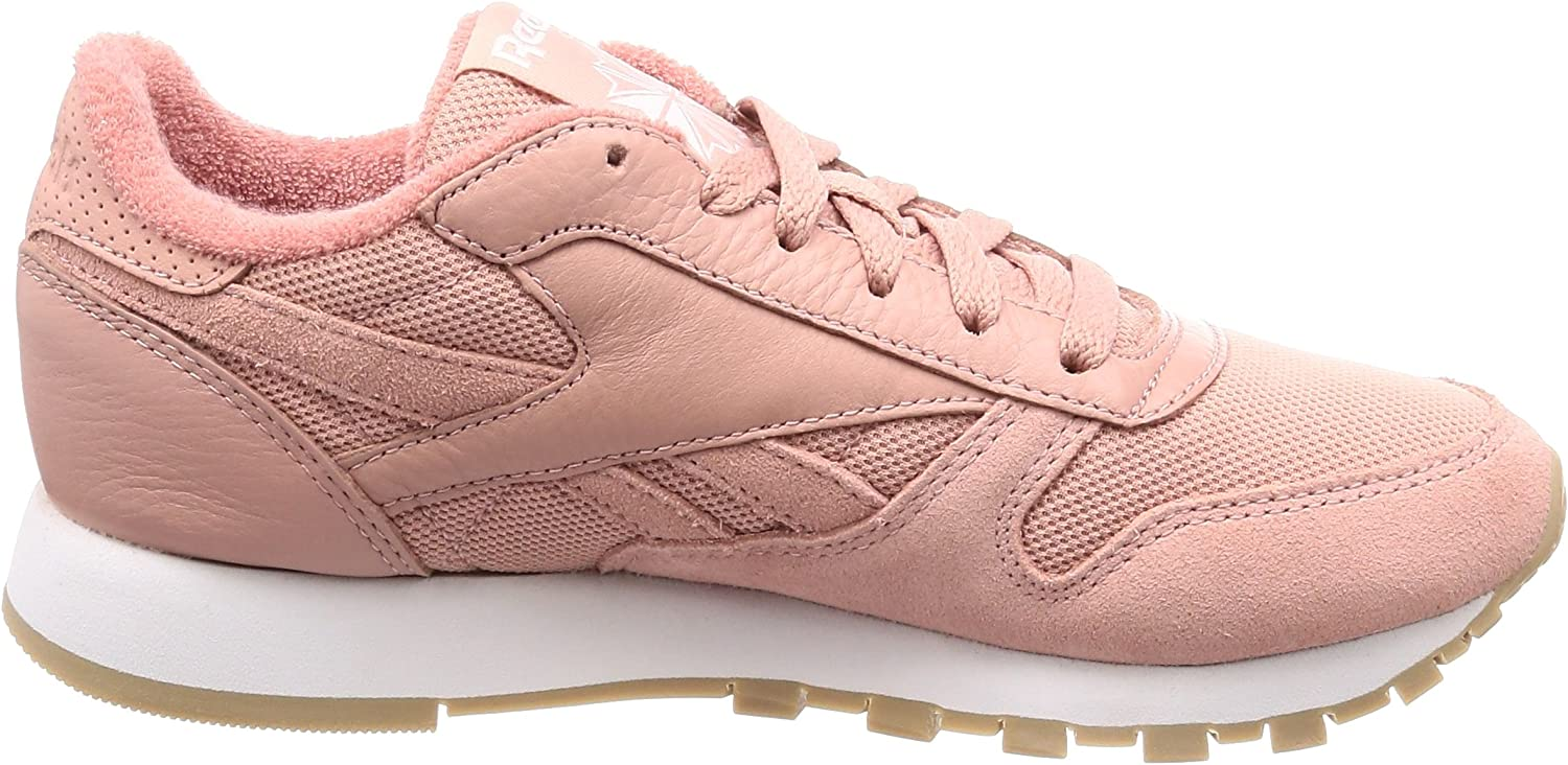 Reebok Classic Leather Estl, Sneakers Basses Homme Rose Chalk Pink White