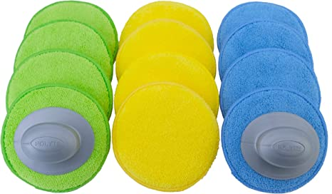 8 Pack Blue, 5 in Polyte Microfiber Detailing Wax Applicator Pad