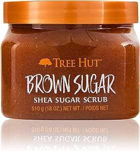 Tree Hut Shea Sugar Scrub Brown Sugar, 18oz, Ultra Hydrating & Exfoliating Scrub for Nourishing Essential Body Care