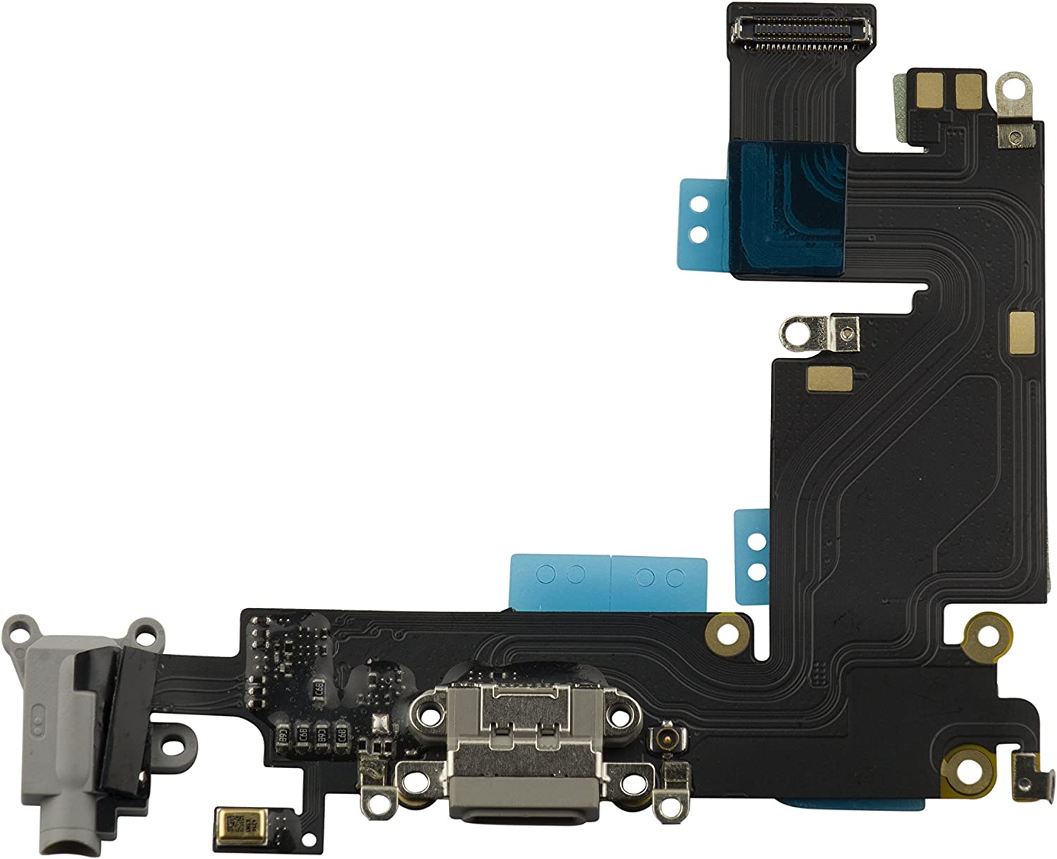 HKCB Charging Port Dock Connector Headphone Jack Flex Cable Microphone Replacement for iPhone 6 Plus 5.5