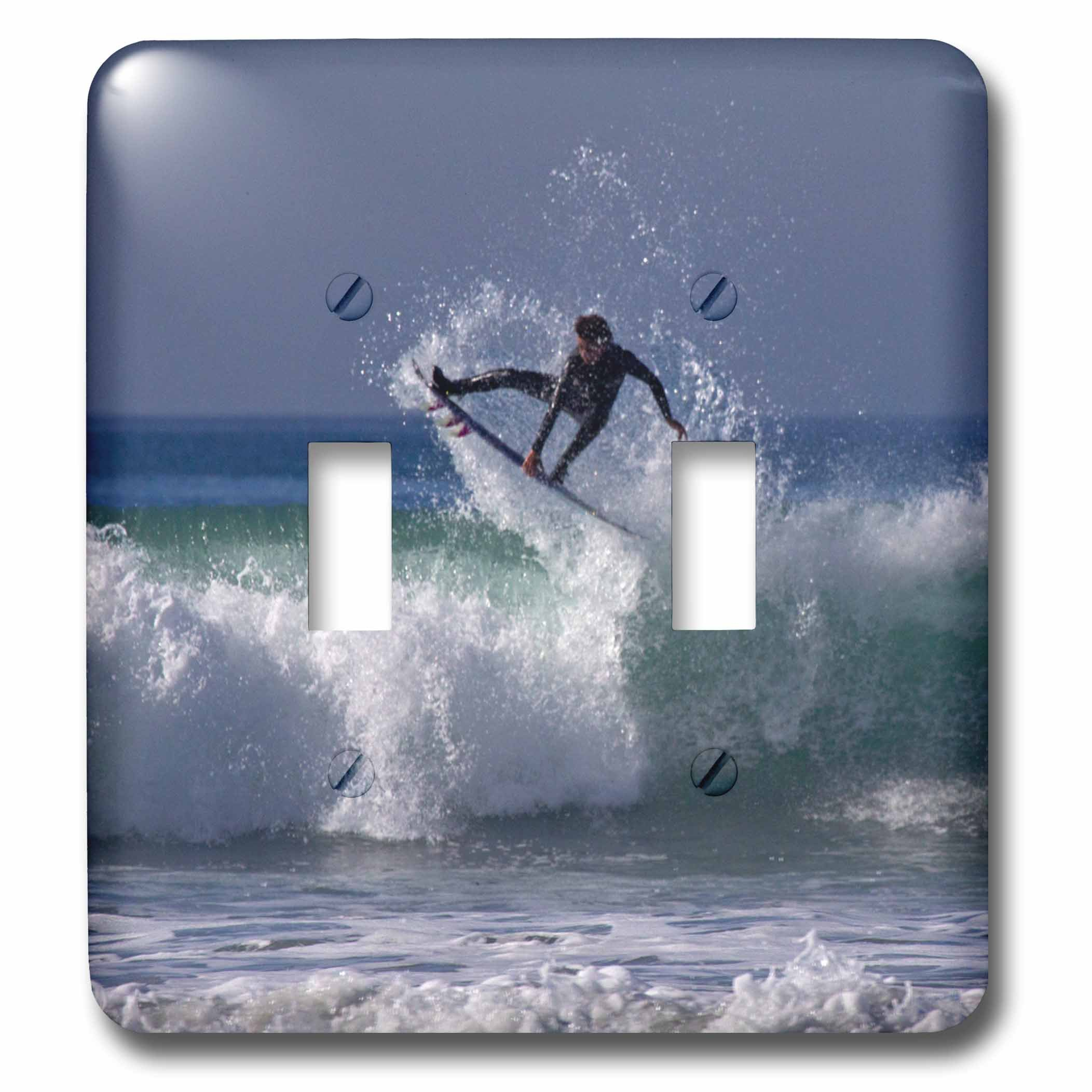 3D Rose lsp_230166_2 California, San Diego. Surfer Catching Air At Cardiff by the Sea. Double Toggle Switch