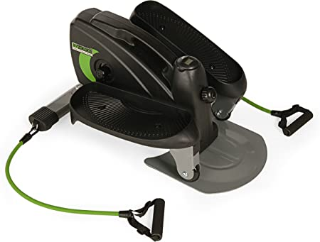 side facing stamina Inmotion compact elliptical with cords