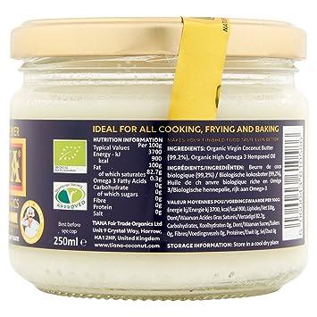 Tiana High Omega 3 Coconut Butter 250 g (order 24 for trade outer): Amazon.es: Hogar