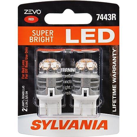 SYLVANIA ZEVO 7443 T20 Red LED Bulb (Contains 2 Bulbs)  sc 1 st  Amazon.com & Amazon.com: SYLVANIA ZEVO 7443 T20 Red LED Bulb (Contains 2 Bulbs ...