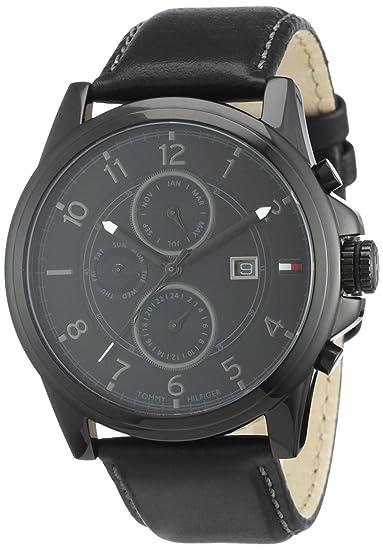 Reloj para hombre Tommy Hilfiger 1710295, mecanismo de cuarzo, diseño con varias esferas, correa de piel.: Amazon.es: Relojes