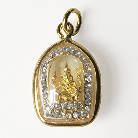 Amazon phra pikanet lucky amulet lord ganesha with diamonds phra pikanet lucky amulet lord ganesha with diamonds thai hindu sacred elephant god pendant jewelry aloadofball Gallery