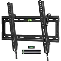 """USX MOUNT Tilt TV Wall Mount Low Profile, Tilting TV Mount Bracket for Most 26-55"""" Flat Screen LED, LCD, OLED, 4K TVs, TV Bracket VESA 400x400mm-Weight Capacity Up to 99lbs, Space Saving for 16"""" Stud"""